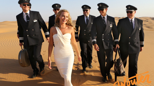 With Margot Robbie in The Empty Quarter
