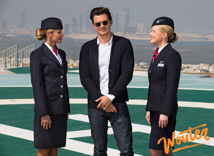Wouter Kingma Blog for Brittish Airways with Orlando Bloom in Abu Dhabi 01