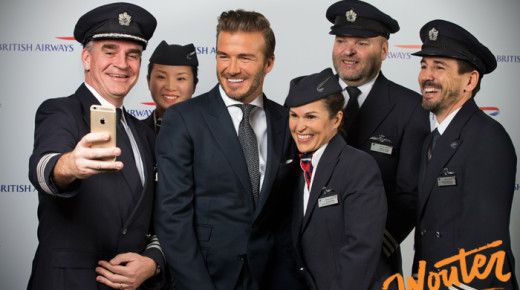 In Shanghai with David Beckham